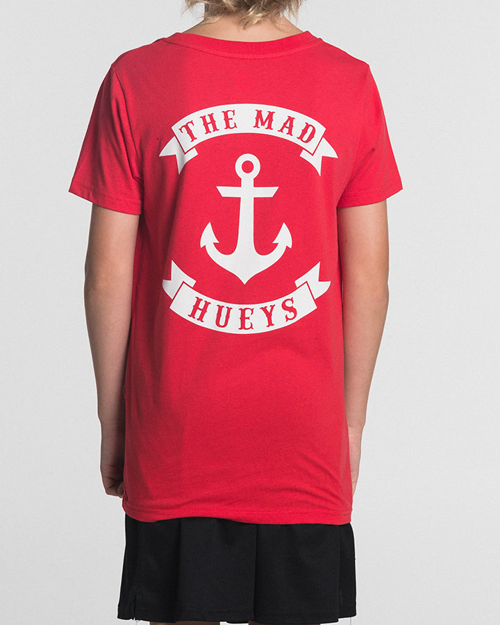 YOUTH ANCHOR SS TEE - RED