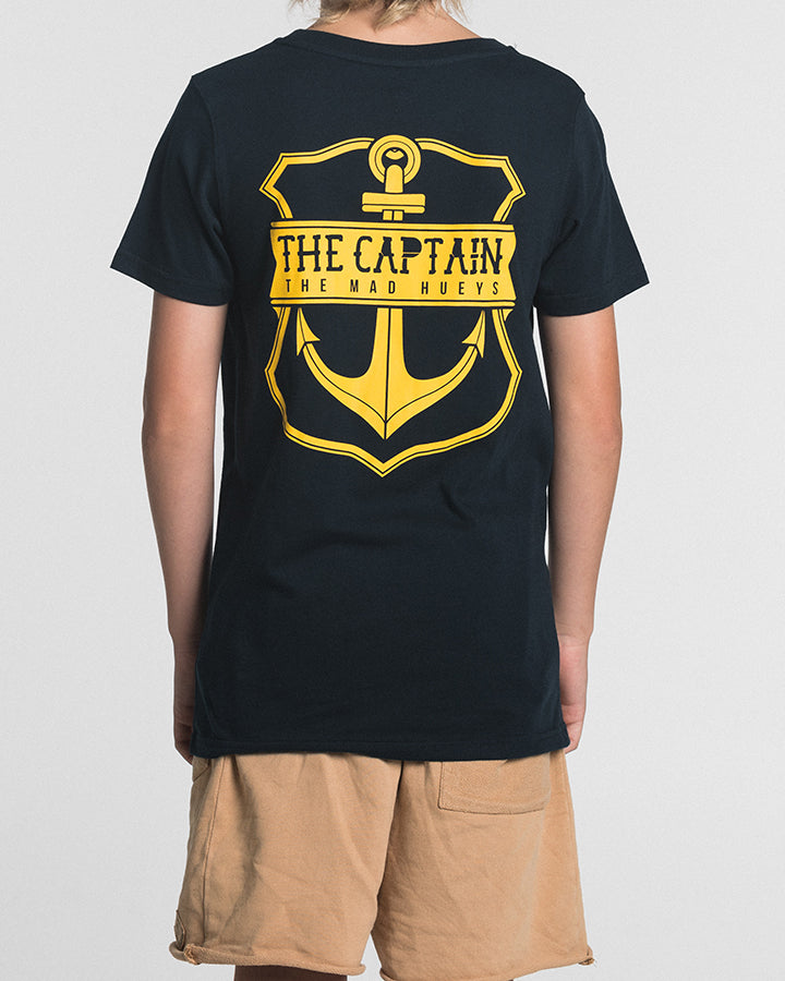 YOUTH CAPTAIN SS TEE - NAVY