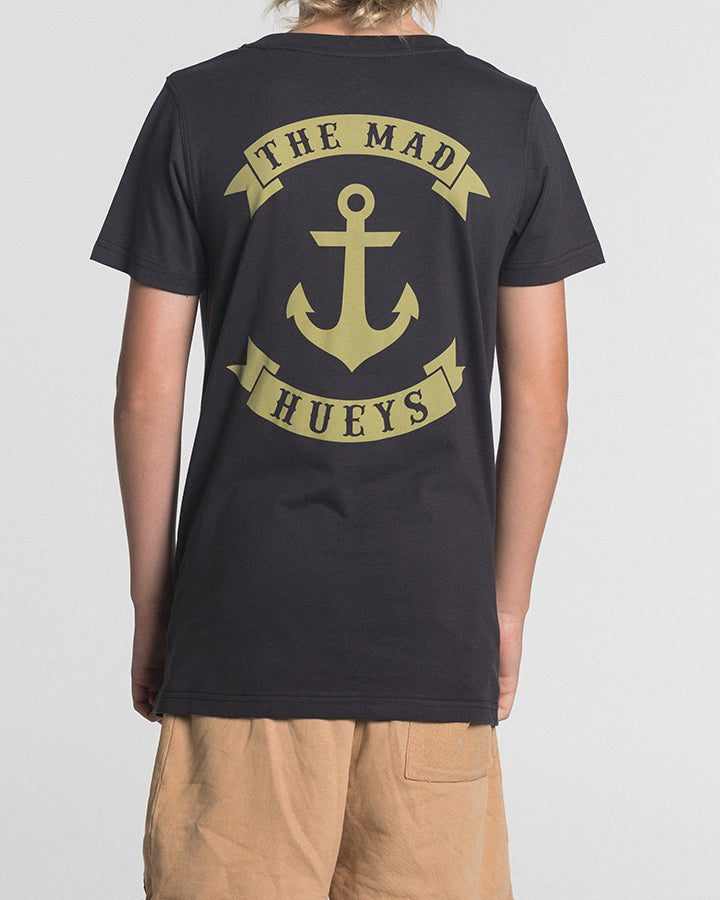 YOUTH ANCHOR CASTAWAY SS TEE - ALMOST BLACK
