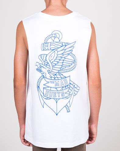YOUTH EAGLE ANCHOR MUSCLE - WHITE