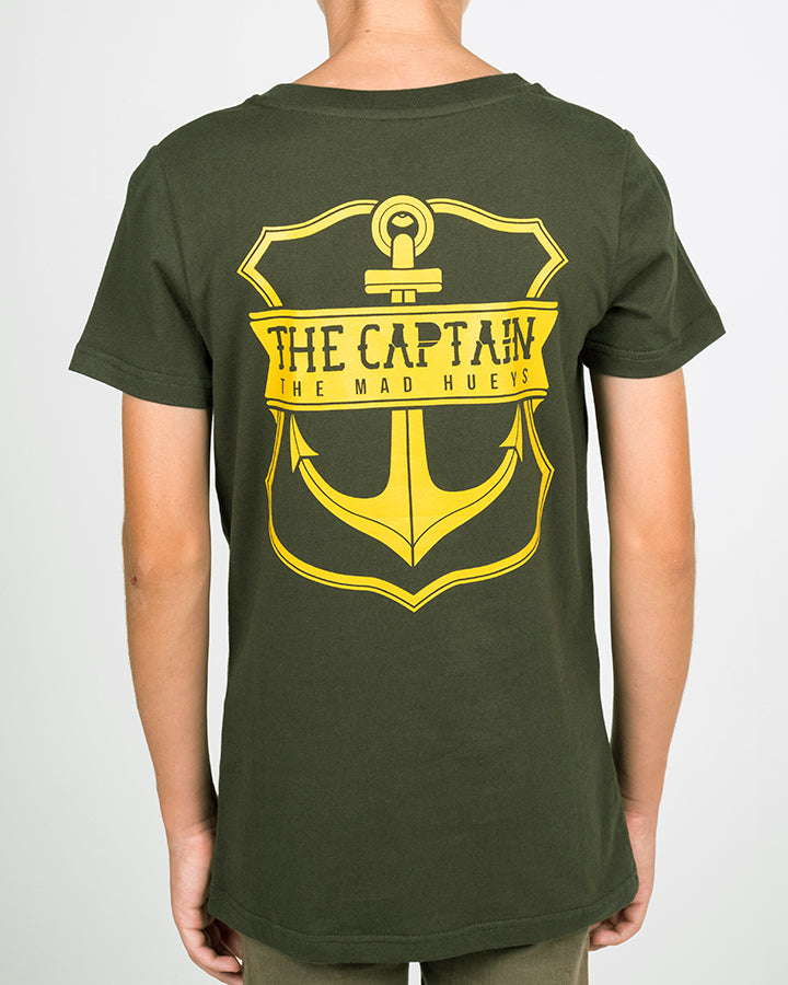 YOUTH STRAYA EDITION CAPTAIN SS TEE - DARK GREEN