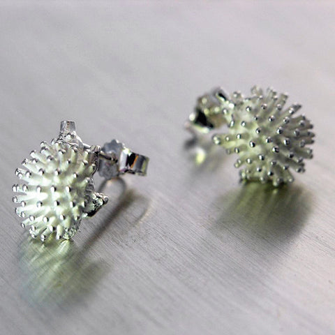 Hedgehog, Siili, korvakoru, earrings, Sassi Design