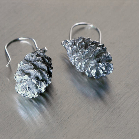 Silver cone, korvakoru, earrings, Sassi Design
