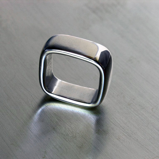 Square, ring, sormus, Sassi Design