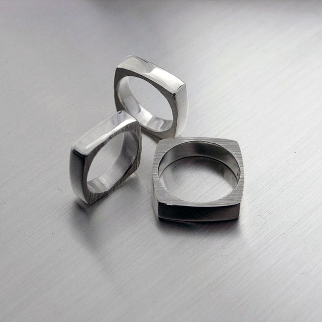 Square, sormus, ring, Sassi Design