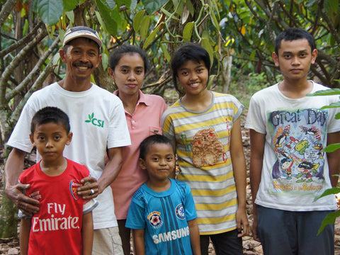 Cocoa Farming family