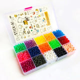 DOLLRYGA 6000pcs 24color Beads Puzzle Crystal Color Aqua DIY Beads Water Spray Set Ball Games 3D Handmade Magic Toy for Children