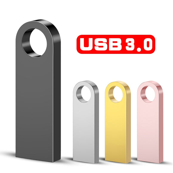 Metal Pen Drive 3.0 PenDrive 32GB 16GB 8GB 4GB High Speed Usb Flash Drive 128GB Key usb Stick 64gb flash memory Usb Flash Disk