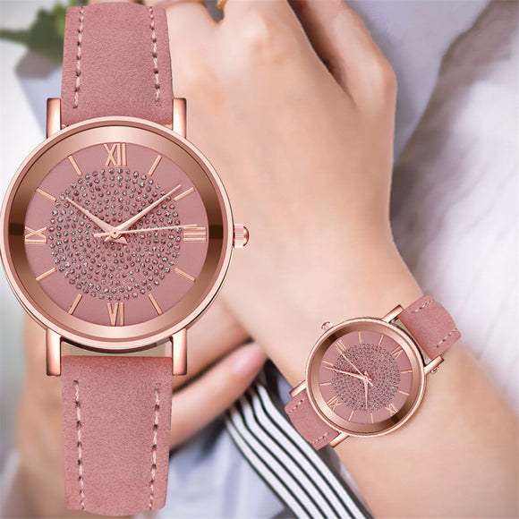 Montre Femme Watch Women Fashion Luxury Crystal Starry Sky Romantique Casual Quartz Watch Bracelet High-end Ladies Clock Simple
