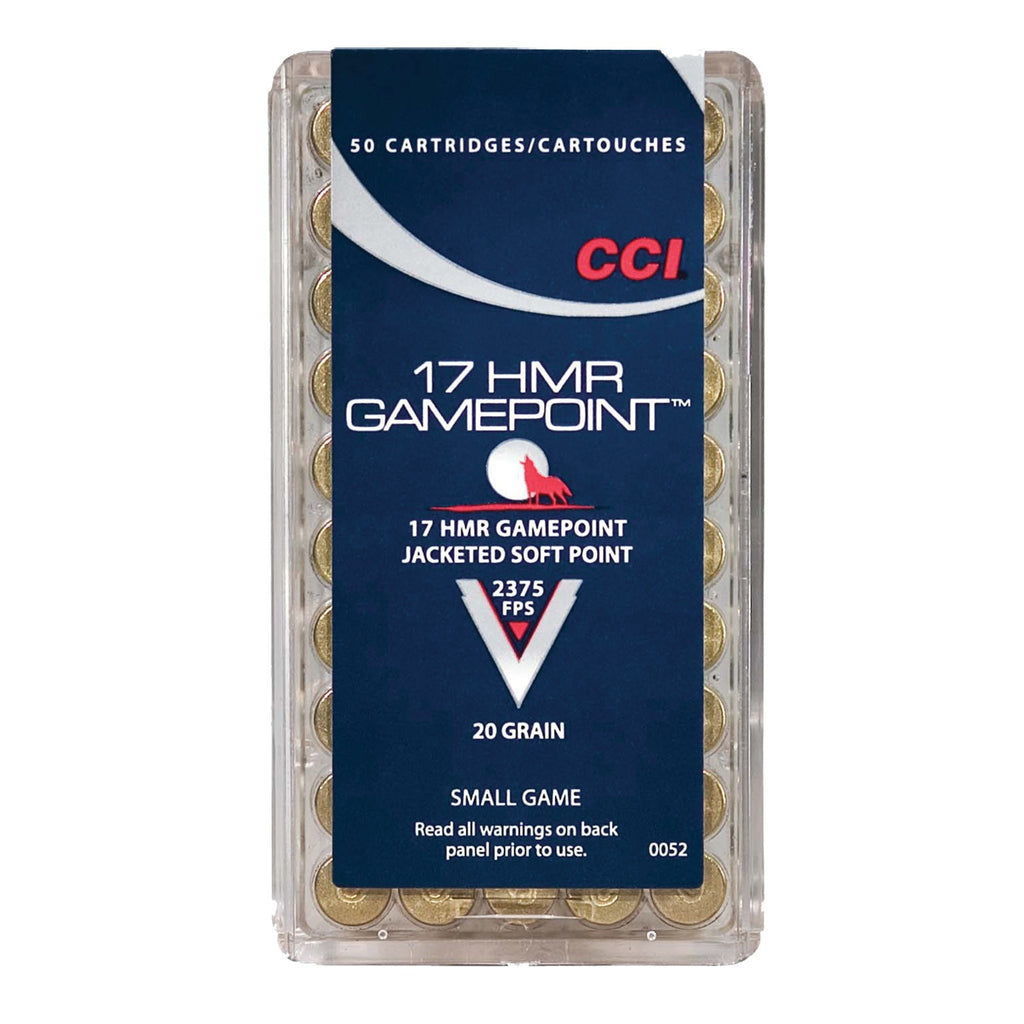 CCI .17HMR Gamepoint 20gr Jacketed Soft Point