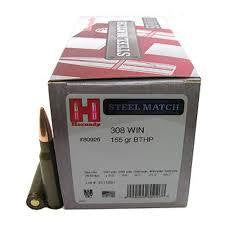 Hornady .308 WIN 155gr Steel Match BTHP