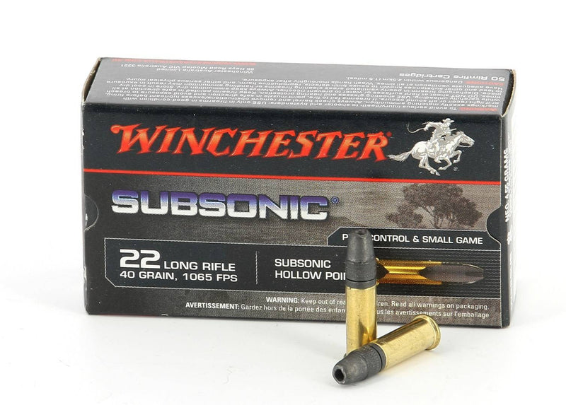 Winchester .22LR 40gr Subsonic