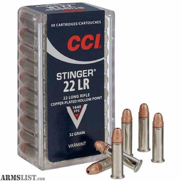 CCI .22 EX LR Stinger Hollow Point