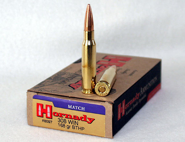 Hornady .308 WIN 168gr Boat Tail Hollow Point