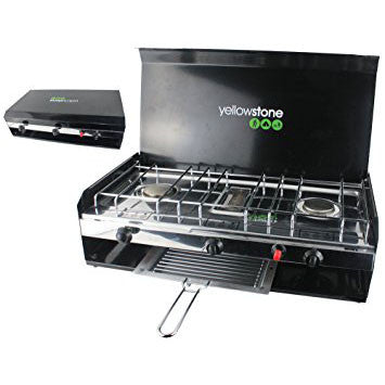Yellowstone Deluxe Double Burner With Grill And Lid