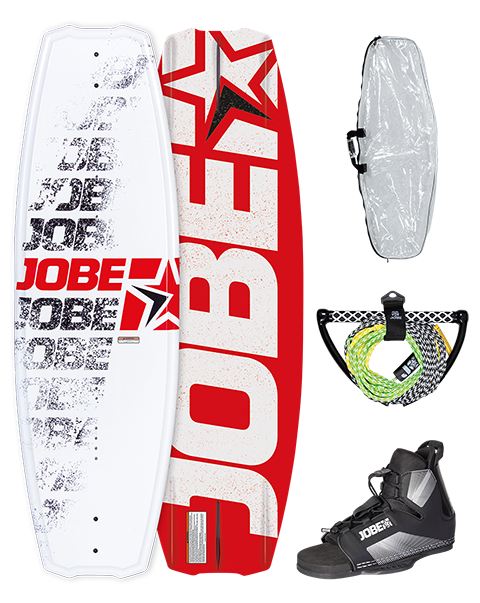 Jobe Logo Series Red Wakeboard Package