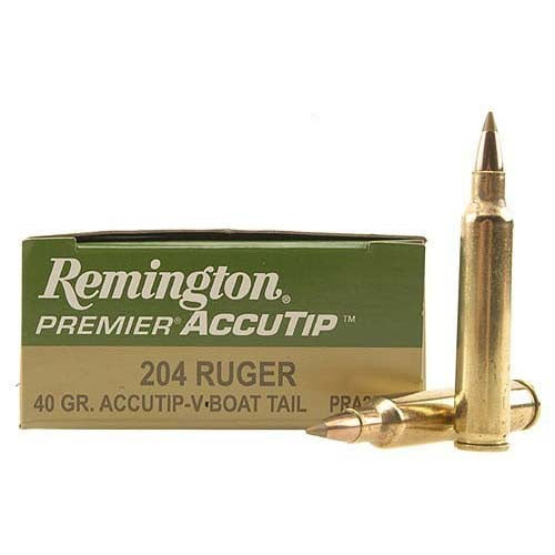 Remington .204 Ruger 40gr AccuTip-V Boat Tail Rifle Ammunition