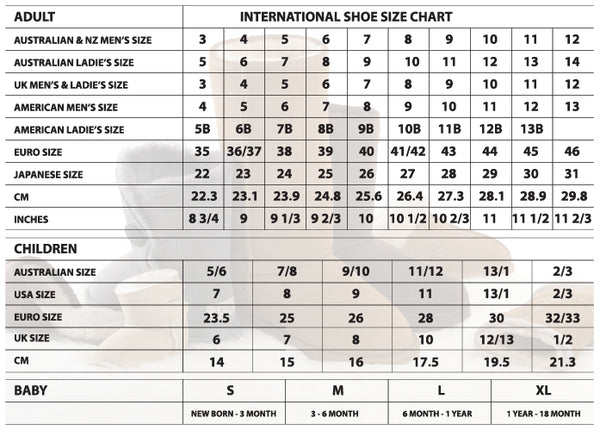 Japan Men Shoe Size Chart