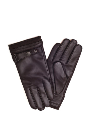 UGG MENS SILVER STUD TAB GLOVES