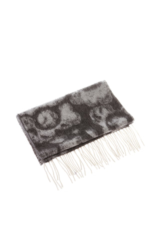 CASHMERE AND WOOL SCARF - CHARCOAL GREY