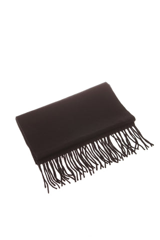 CASHMERE AND WOOL SCARF - BLACK