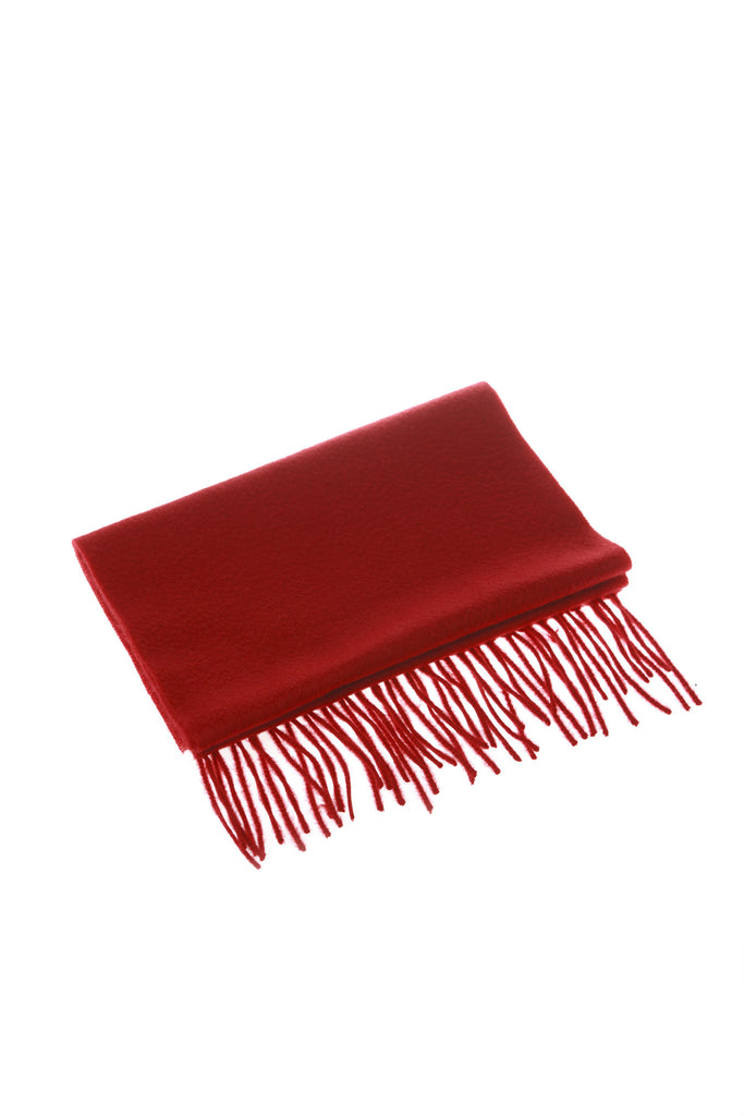 CASHMERE AND WOOL SCARF - TOMATO
