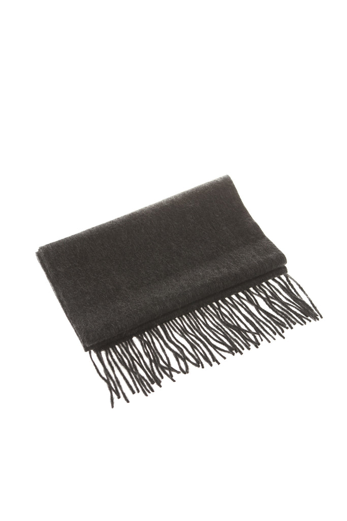 CASHMERE AND WOOL SCARF - CHARCOAL