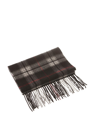 CASHMERE AND WOOL SCARF - BLACK CHECK