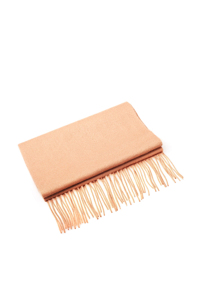 CASHMERE AND WOOL SCARF - CAMEL