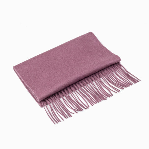 CASHMERE AND WOOL SCARF - DRY ROSE
