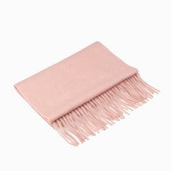 CASHMERE AND WOOL SCARF - DUSTY PINK
