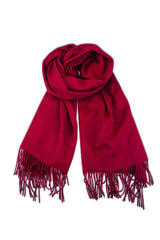 CASHMERE/MERINO WRAP - RED