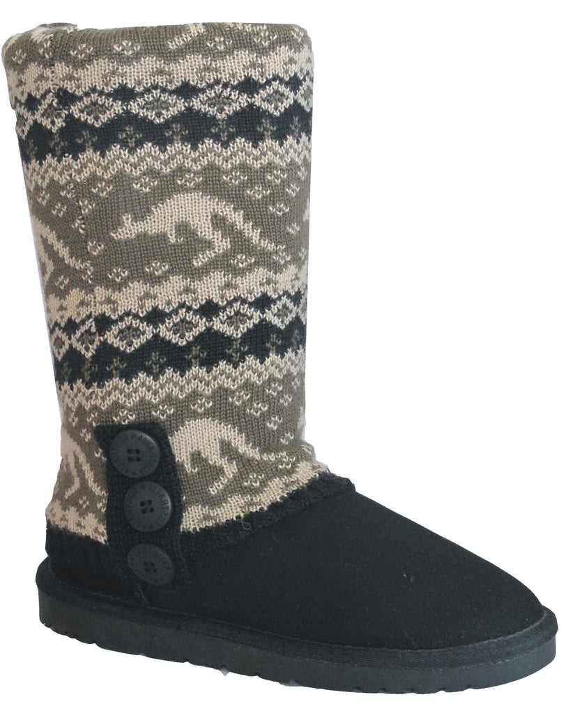 UGG CARDY SOCKS - BLACK/MOSS
