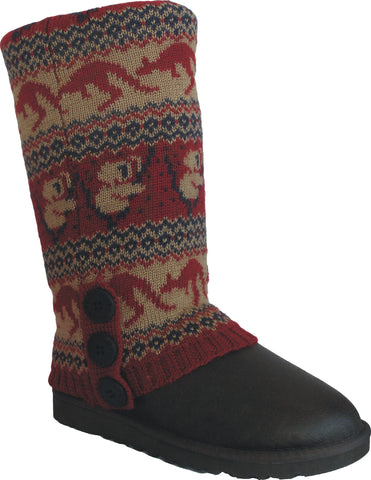 UGG CARDY SOCKS - RED/NAVY