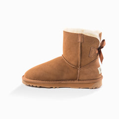 'New generation' ugg ladies classic mini bailey bow boots 1 ribbon boot - chestnut