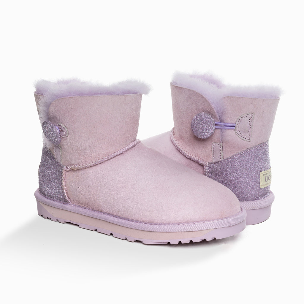 'NEW GENERATION' UGG LADIES CLASSIC SPARKLING MINI BUTTON BOOT