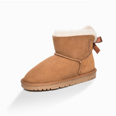 Kids bailey bow boot - chestnut