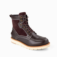 Mens cameron laceup boots - coffee