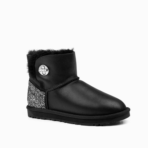 OZWEAR DELLA  MINI TURNLOCK BLING NAPPA BOOTS