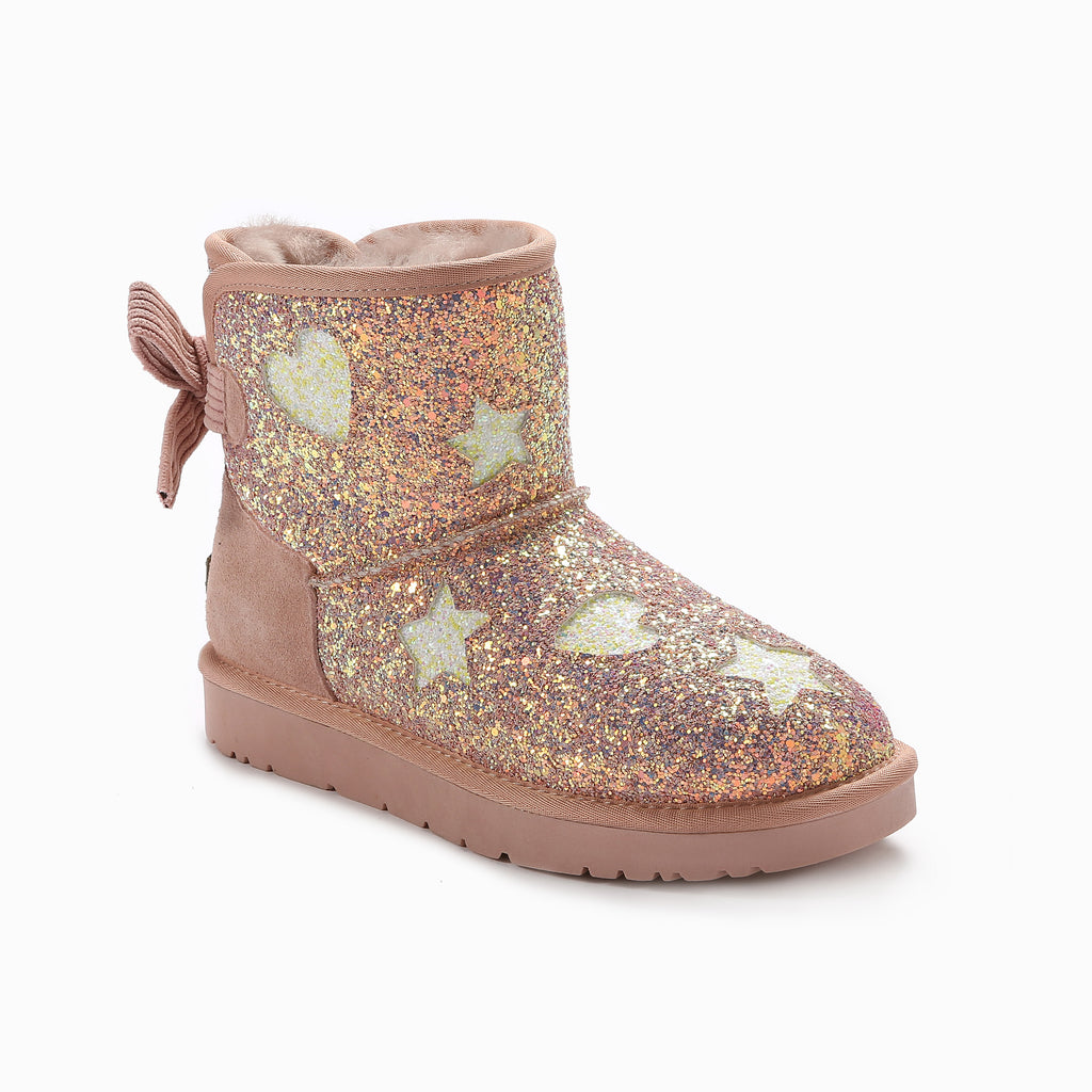 UGG VALERIE BAILEY BOW GLITTER BOOTS