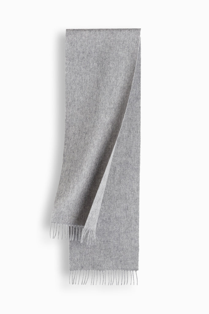 100% WOOL SCARF - GREY