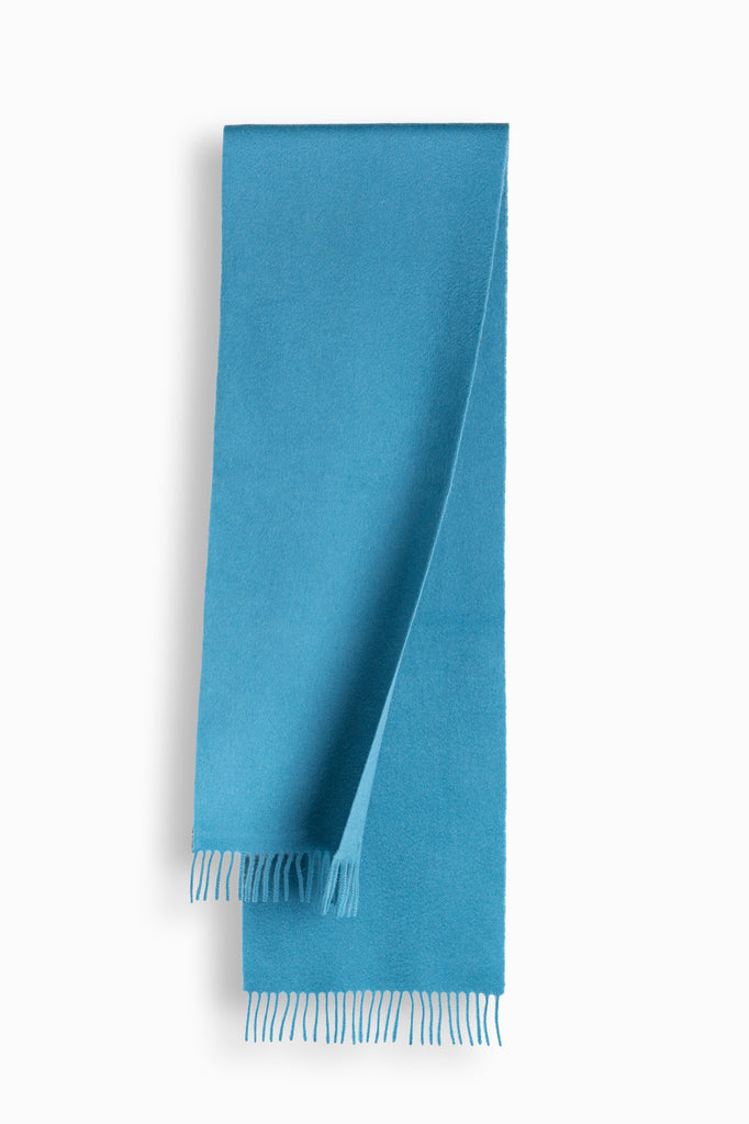 100% WOOL SCARF - TARO BLUE