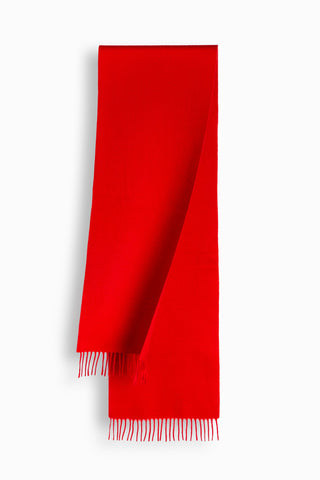 100% WOOL SCARF - RED