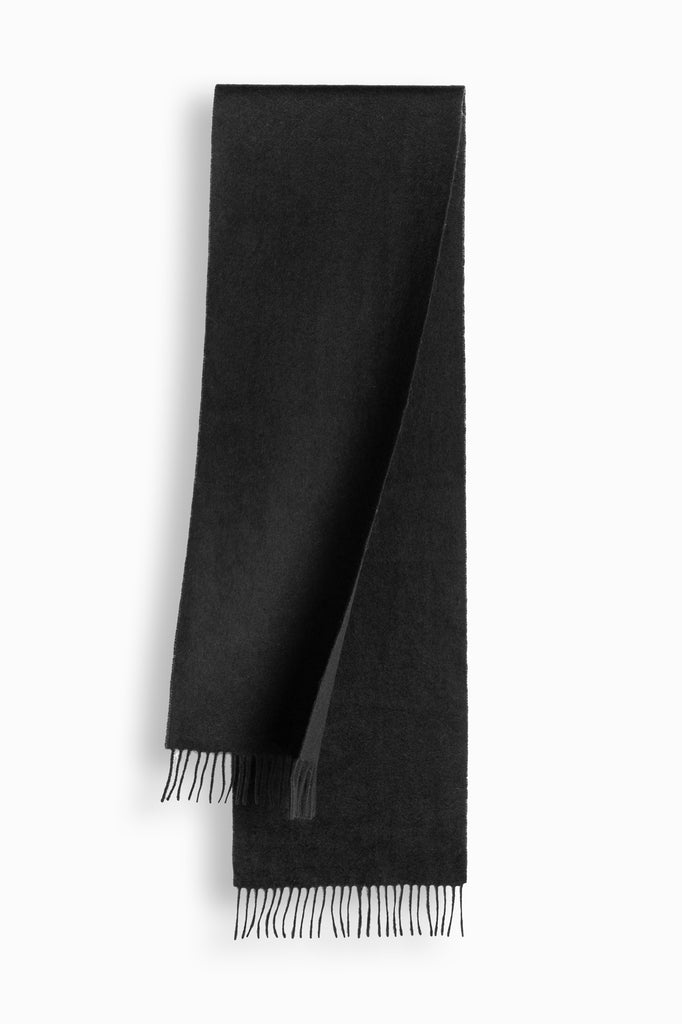 100% WOOL SCARF - BLACK