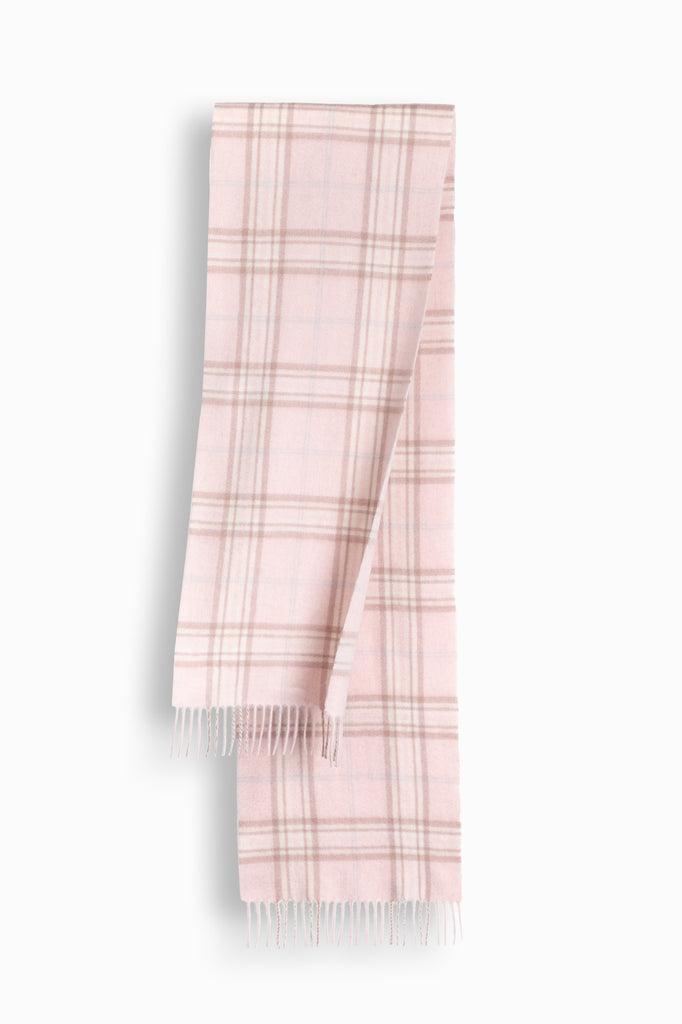 100% WOOL SCARF - PINK CHECK