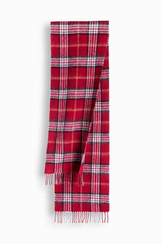 100% WOOL SCARF - RED CHECK