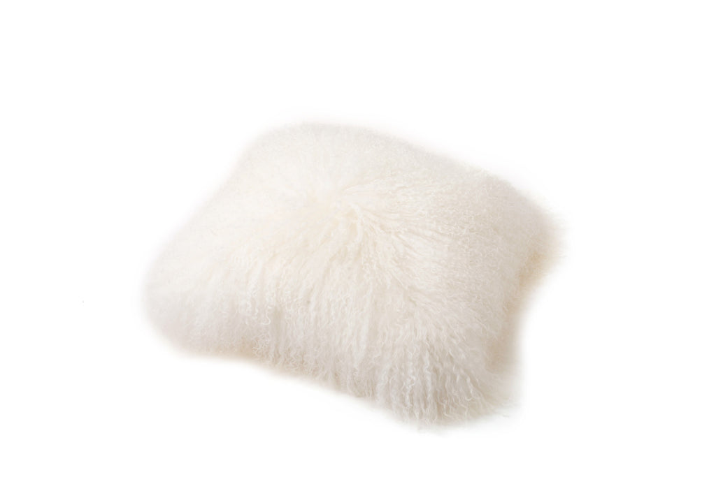 FLUFFY SHEEPS WOOL CUSHION COVER - IVORY