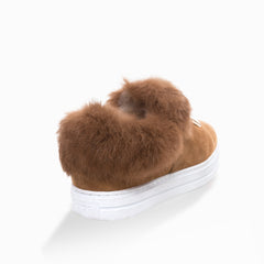 Tame shearling sneakers - chestnut