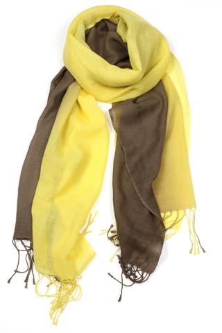 TIE DYE SCARF - LEMON BROWN