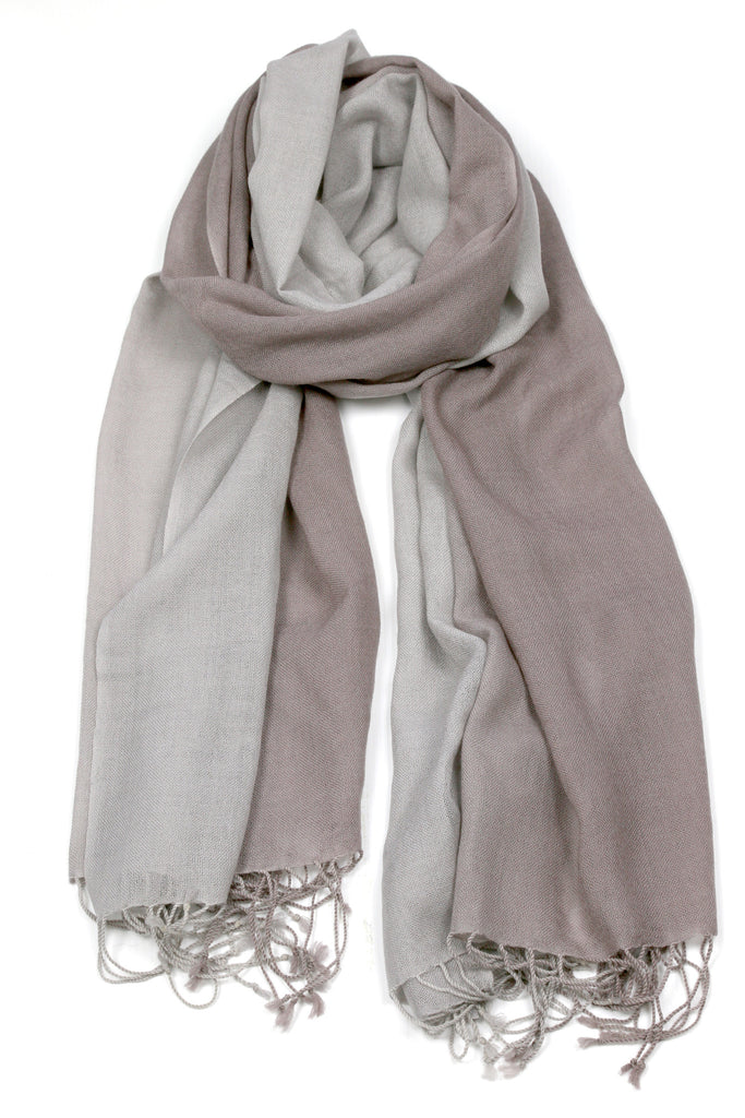 TIE DYE SCARF - GREY TAUPE